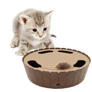 不規則な動きのネズミのオモチャに猫ちゃんの狩猟本能が目覚めるかも!?電動ぐるぐるマウス【猫...