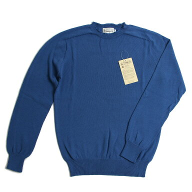 Inverallan Cotton Crewneck Sweater: Denim