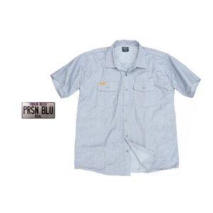 ヒッコリーワークシャツ プリズンブルース