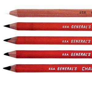 木炭を主成分とした豊かな黒色鉛筆ゼネラル チャコールペンシル★黒