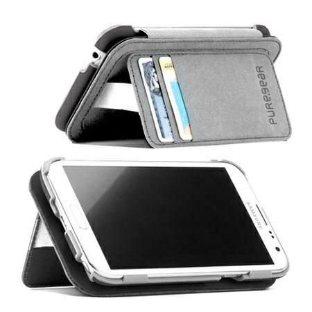 [日本正規代理店品] ピュアギア puregear FOLIO with kickstand - Black Samsung Galaxy Note3 93786VRP ブラック