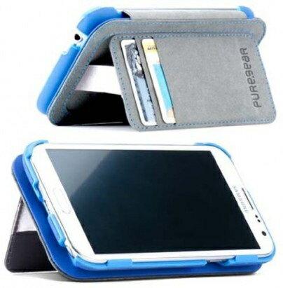 [日本正規代理店品] ピュアギア puregear FOLIO with kickstand - Blue Samsung Galaxy Note3 93784VRP ブルー