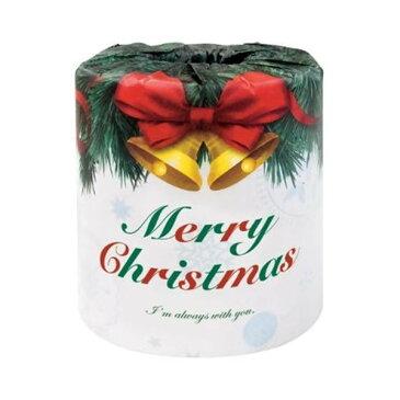 ハッピークリスマス クリスマスロール トイレットペーパー 100個入 2366