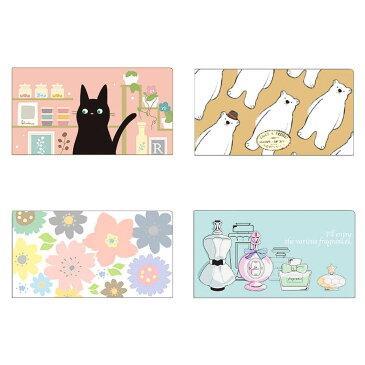 清潔&コンパクト 抗菌マスクケース(レディースNo.2) ×10セット 猫柄・CZMC-CAT