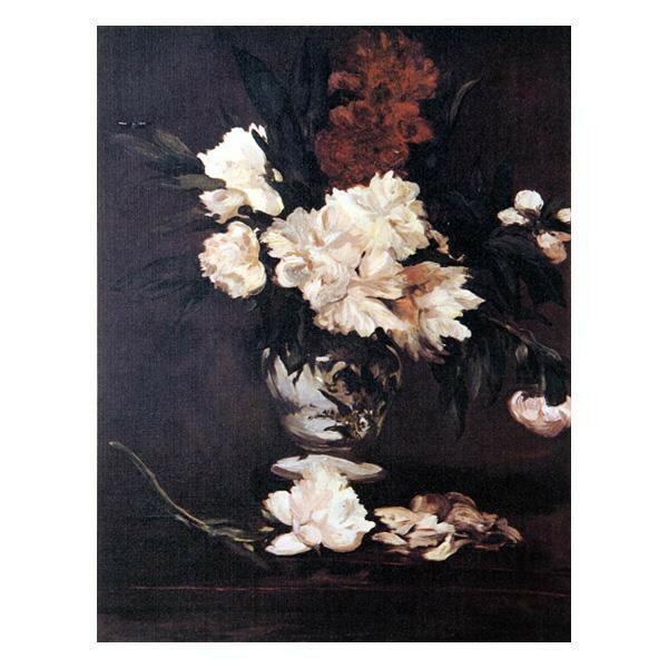 プリハード エドゥアール・マネ 台の上のしゃくやくの花 F3号 額縁B 1260