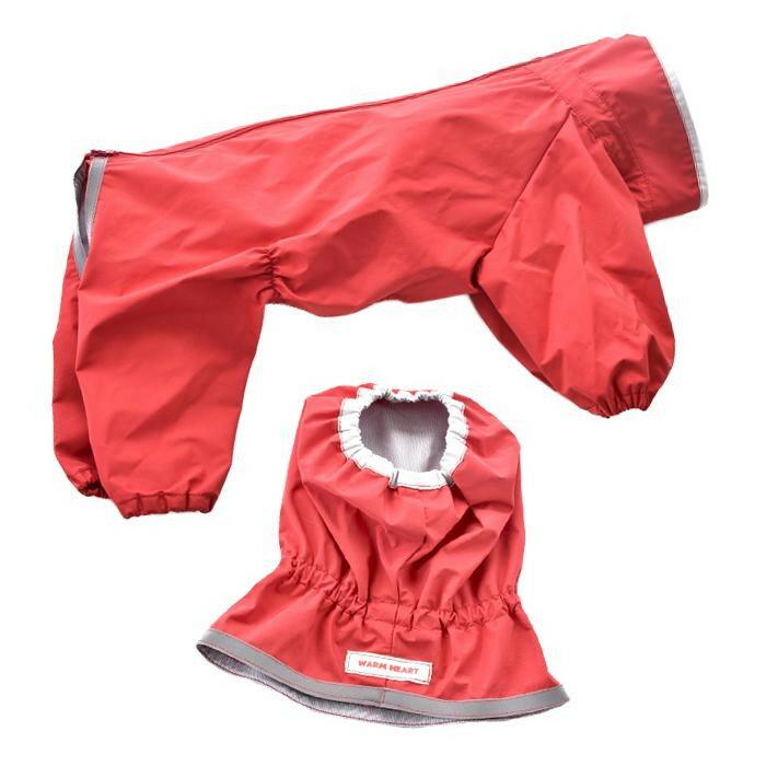 ペットグッズ 犬用品 ドッグウェア レインコート JコートJ レインスヌード付き 普通犬用 赤 6号 1720F001
