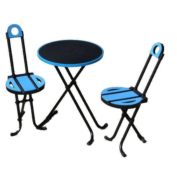アウトドア チョイス・テーブルセット 折畳式チェア2脚・テーブル1台セット