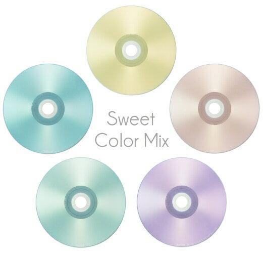 マクセル maxell 音楽用 CD-R  インクジェットプリンター対応「Sweet Color Mix Series」 80分 (30枚スピンドル) CDRA80PSM.30SP