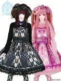 LVW1022(大きめサイズ)ラブリー乙女蒔絵の矢絣宴花押手箱の真夢絵巻ジャンパースカート