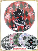 9CAN78XLダイヤ柄猫耳騎士団缶バッチ(特大、直径7.6cm)/MAXIMUM猫、猫海賊