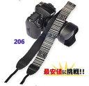 一眼レフ ミラーレス用 カメラネック ストラップ 206 Canon Nikon Sony leica olympus OM-D 用 おしゃれ カメラ ストラップキャッシュレス還元