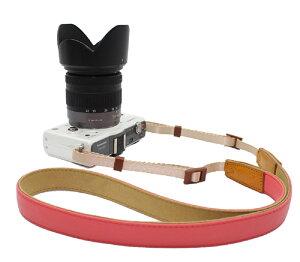 1000円ポッキリ 送料無料 カメラネックストラップ マカロン 一眼レフ ミラーレス一眼レフ用 Canon Nikon Sony leica olympus OM-D カメラ女子に ローズピンク A00954 ポイント消化