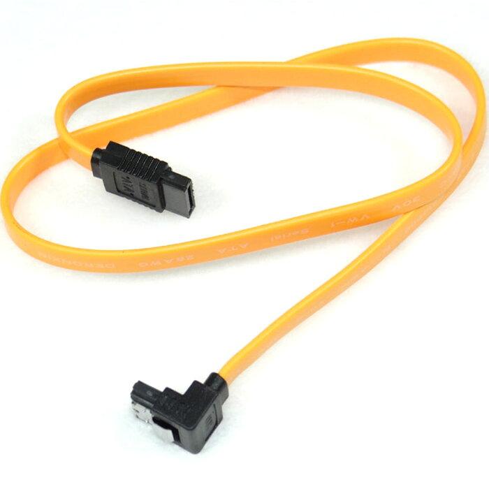 シリアルATAケーブル 金属製ラッチ付き 35cm SATA3.0対応 L型-I型