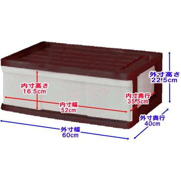 【送料無料 全16色】収納ボックス 収納ケース プラスチック 引き出し 1段 2個組 幅60 奥行40 高さ22.5cm ワイド カラフルチェスト 完成品 おしゃれ ブラウン 【メーカー 自社製造 日本製】