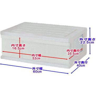 【送料無料 全16色】収納ボックス 収納ケース プラスチック 引き出し 1段 2個組 幅60 奥行40 高さ22.5cm ワイド カラフルチェスト 完成品 おしゃれ ホワイト 白 【メーカー 自社製造 日本製】