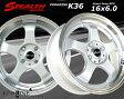 ■ STEALTH Racing K36 ■チューニング軽四用 前後幅広リム 6.0J新品ホイール+タイヤ4本SetHankookタイヤ付
