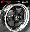 ■ STEALTH Racing K36 ■チューニング軽四用 前後幅広リム 6.5J新品ホイール+タイヤ4本SetHankookタイヤ付
