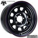 ■ U.S.Daytona デイトナ ■オフセット+20 PCD114.3ブラックカラー ホイール4本セット汎用/ディスク深いカスタムサイズ!!