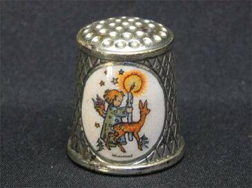 Hummel 1989年 キャンドルを持つ天使と小鹿 クリスマス 限定発行 リミテッド エディション フンメル ヒュンメル ARS社製 シルバープレート シンブル 指貫き 母の日 誕生日 プレゼント ソーイング コレクション アイテム 小物 02P23Aug15
