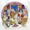 不思議の国のアリスの絵皿ホワイトラビットとアリスフランスリモージュのジョルジュボワイエ(GeorgesBoyer)白ウサギ