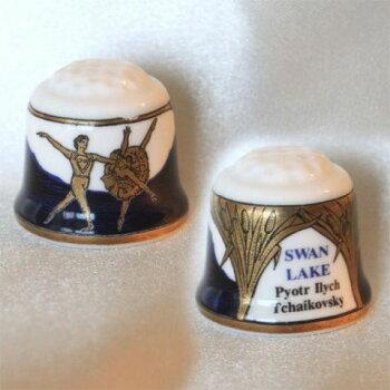 スワンレイク(SwanLake)バレエ白鳥の湖ピョートル・イリイチ・チャイコフスキーブラウンウェストヘッド・ムーア(Brown-Westhead,Moore&Co)BWMTCCシンブル(指ぬき)1998年
