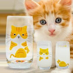 プレゼント付♪【猫グラス5種セット】猫好き必見!かわいい5匹の猫のグラスデザイングラス350ml×5種類猫コップ5個ねこコップネココップねこグラスネコグラス猫ねこネコデザイングラスコップ猫のコップ(3980円以上で送料無料)