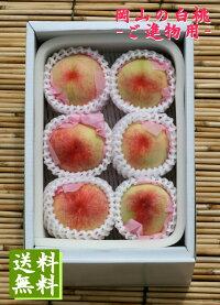【予約販売】岡山白桃1.5kg箱詰ご進物用5個〜6個【ご進物・贈答用・お中元フルーツ】7月下旬頃よりお届け