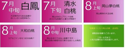 【予約販売】旬果くらべ岡山白桃(全5回)