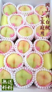 【予約販売】岡山白桃4kg箱詰家庭用フルーツ14個〜16個※お届けは7月下旬頃より順次発送