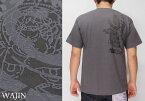 Wajin[大黒] 増長天 プリント 和柄Tシャツ/半袖/日本製/D-003【古き良い日本の図柄をデザインした和柄Tシャツ!】[シンプル]