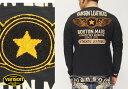 VANSON[バンソン] フライングスター 刺繍 ロングTシャツ/NVLT-718/送料無料【VANSON(バンソン)から新作アイテムが登場!!】