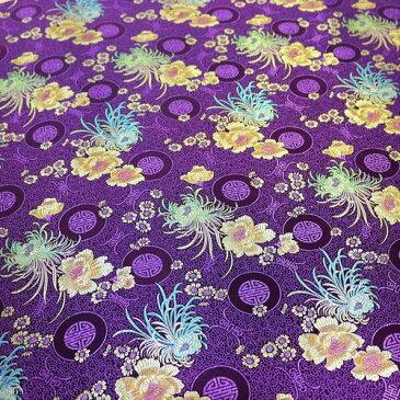 チャイナドレス用生地 12E 紫