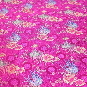 チャイナドレス用生地 12I 濃ピンク