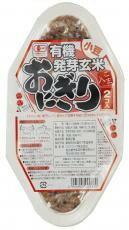 【6個セット】【全国一律送料無料】コジマ 有機発芽玄米おにぎり 小豆90g×2 【代引き不可 時間指定不可】