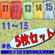 11〜15前後番号付◆ゲームゼッケンビブス 5枚セット収納袋付