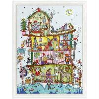 クロスステッチ刺繍キットサンタの家BothyThreadsCutThru'NorthPoleHouse日本語解説付きクリスマス