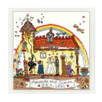 クロスステッチ刺繍キットウェディングBothyThreadsCutThru'Wedding日本語解説付きウェルカムボード