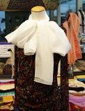 【草木染にも使えます】縫製後に出荷します。シルクシフォンの縫製済みロングの白スカーフ大判ショールsize55cm×200cm,silk100%北陸製の上質白生地を使用。黄ばまない黄変防止加工は1800円追加です。日本製/バイク/マフラー/防寒/