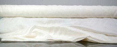 絹布団・シーツ・枕カバー・ネクタイ加工用、日本製シルク生地silk100%白生地シルクサテン(110cm幅)長寿縁起物和柄【鶴亀】1m単位で切り売りします。高級服地にも使用の16匁シルク白生地切り売り
