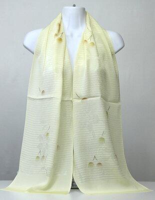 【丹後縮緬】シルクおびあげ友禅染め/正絹帯揚げ160cm×30cm幅日本の美/和柄スカーフ/欧米人向き人気ギフト/両端を縫えばスカーフとして使えます。800円追加で三巻スカーフ縫製いたします。手芸/パッチワーク/ギフト包装無料silk100%日本製