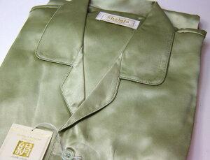 【ギフト推薦】父の日No,1お肌に優しいシルクのパジャマ。シルクのツルッとした風合いで気持ち...
