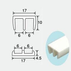 自作断熱窓製作用レール中空ポリカプラダン4〜4.5mm厚用樹脂製レール上下セット