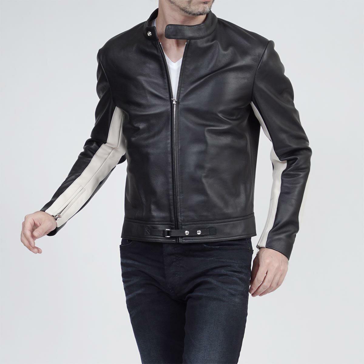 メゾンマルジェラ Maison Margiela ライダースジャケット 14 LEATHER BLACK ブラック系 s30am0362 sy0416 963 メンズ【ラッピング無料】【返品送料無料】【あす楽対応_関東】:モダンブルー