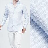 ボリエッロ BORRIELLO ワイドカラーシャツ ワイシャツ ホワイト×ライトブルー ブルー系 s10 4003 1 メンズ【あす楽対応_関東】【ラッピング無料】【返品送料無料】
