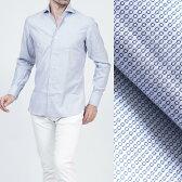 ボリエッロ BORRIELLO ワイドカラーシャツ ワイシャツ ホワイト×ネイビー ブルー系 s10 4003 3 メンズ【あす楽対応_関東】【ラッピング無料】【返品送料無料】