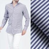 ボリエッロ BORRIELLO ワイドカラーシャツ ワイシャツ ホワイト×ネイビー ブルー系 s10 4018 2 メンズ【あす楽対応_関東】【ラッピング無料】【返品送料無料】