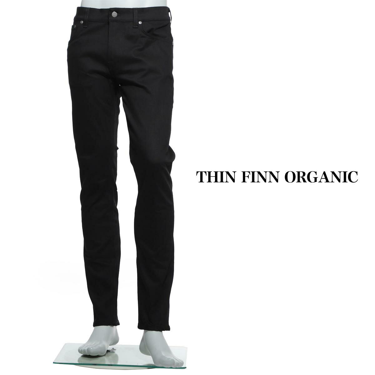 ヌーディ—ジーンズ nudie jeans co ジップフライジーンズ THIN FINN ORGANIC ブラック ブラック系 thin finn 112303 メンズ【あす楽対応_関東】【ラッピング無料】【返品送料無料】【17 02 23】