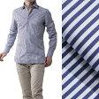 ルイジボレッリ LUIGI BORRELLI ワイドカラーシャツ ドレスシャツ ワイシャツ SEVERO NAVYWHITE ブルー系 severo s5013 72 メンズ【あす楽対応_関東】【ラッピング無料】【返品送料無料】【170324】