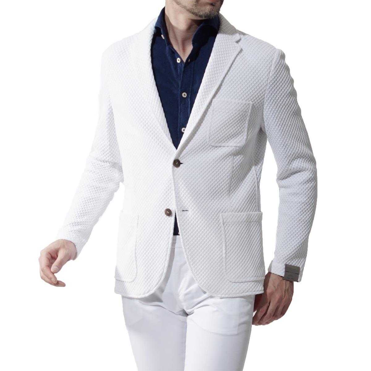 アルテア altea 2つボタンジャケット RELAX WHITE ホワイト系 2118 02 01 メンズ【ラッピング無料】【返品送料無料】【あす楽対応_関東】:モダンブルー