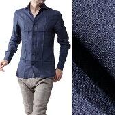ボリエッロ BORRIELLO リネンシャツ ワイシャツ NAVY ブルー系 s10 4044 2 メンズ【あす楽対応_関東】【ラッピング無料】【返品送料無料】【170331】